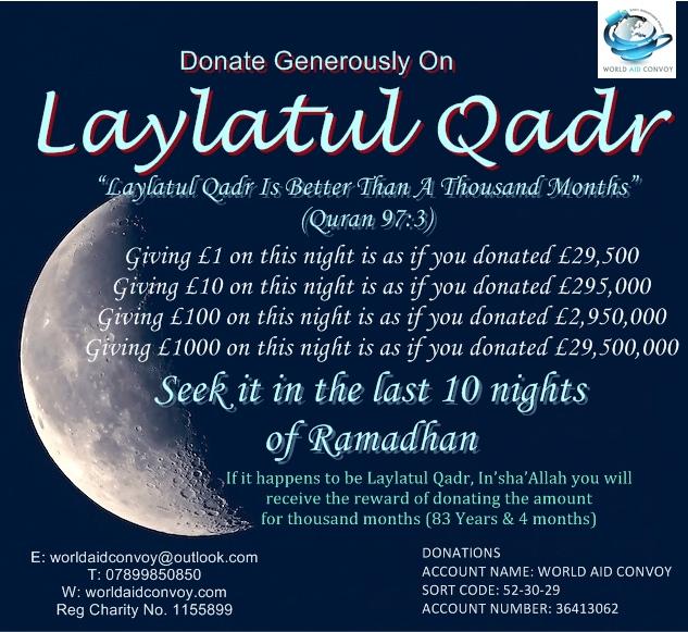 Laylatul Qadr 1439h – World Aid Convoy