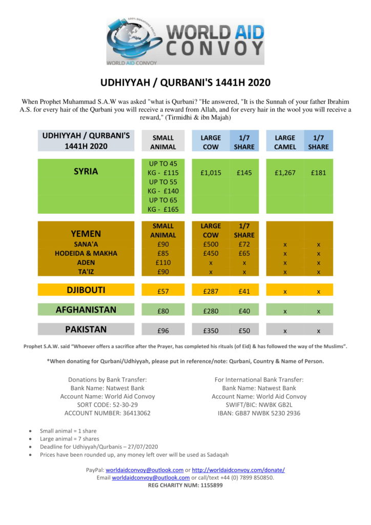 UDHIYYAH QURBANIS 1441H 2020